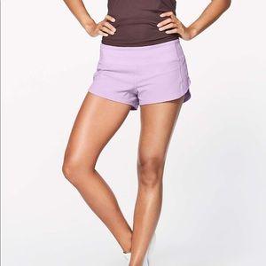 Purple speed up lululemon shorts